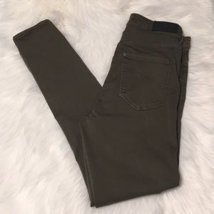 H&M Olive Green High Waist Jeggings Size 29/30